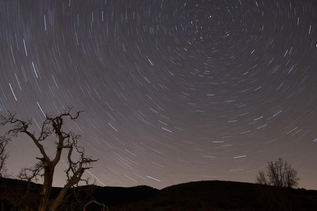 北極星を回る星々