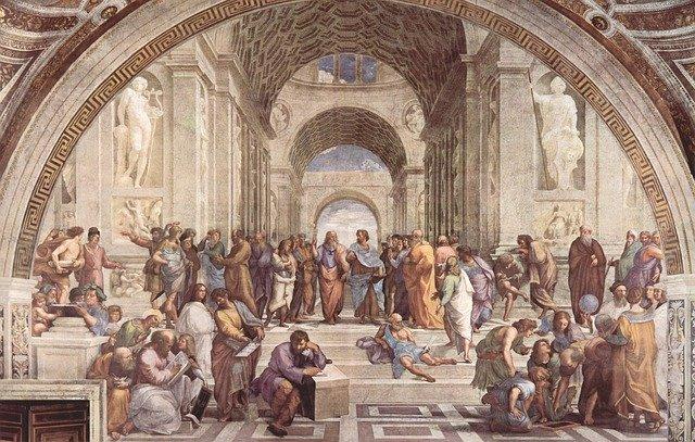 絵「 アテナイの学堂」