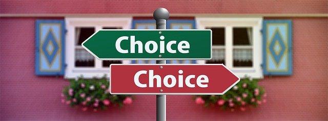 選択。左向きの板と右向きの板