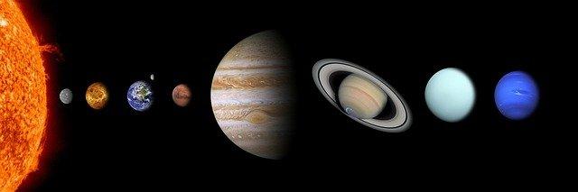 太陽系惑星のイメージ図