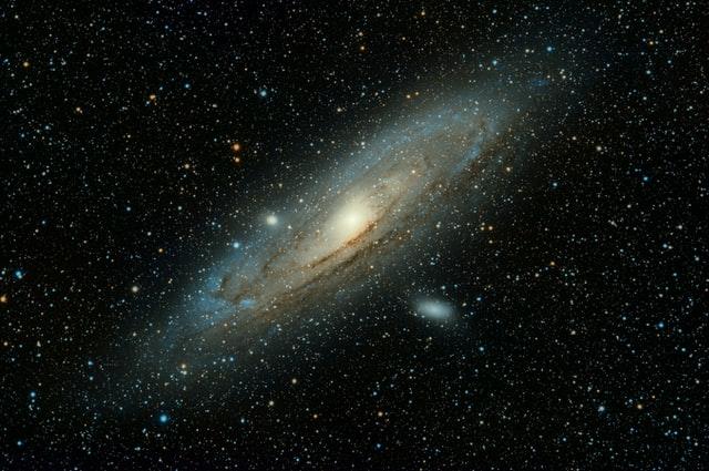 アンドロメダ銀河のイメージ図