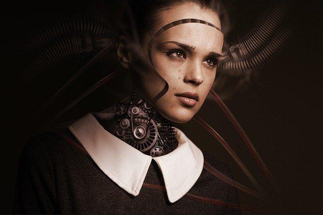 人間の中に機械の部品